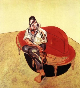 Francis Bacon - Portrait of Lucian Freud on Orange Couch 1965