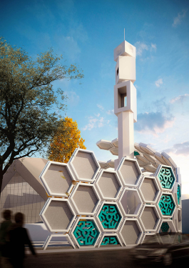 arash-g-tehrani-qods-mosque-renovation-islamic-pattern-tehran-designboom-01