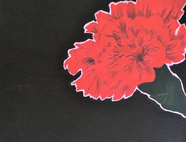 red carnation Leora Baranes