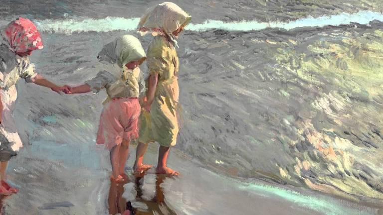 Sorolla Las tres hermanas en la playa