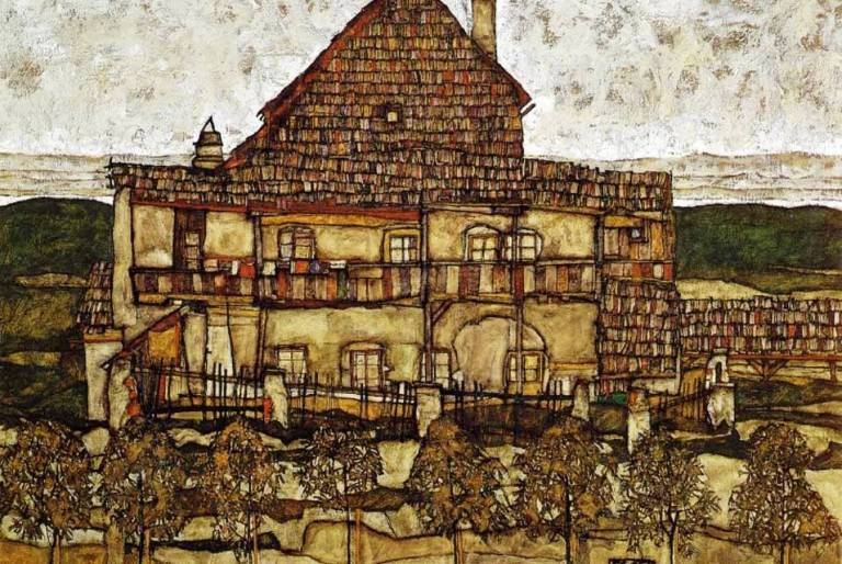 Egon_Schiele_-_Leopold_Museum,_Vienna._'House_with_Shingles',_1915.