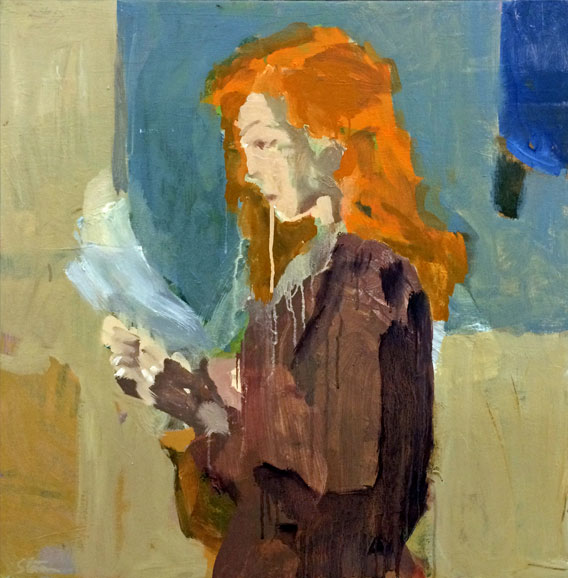girl with orange hair