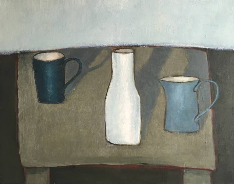 still life with green table