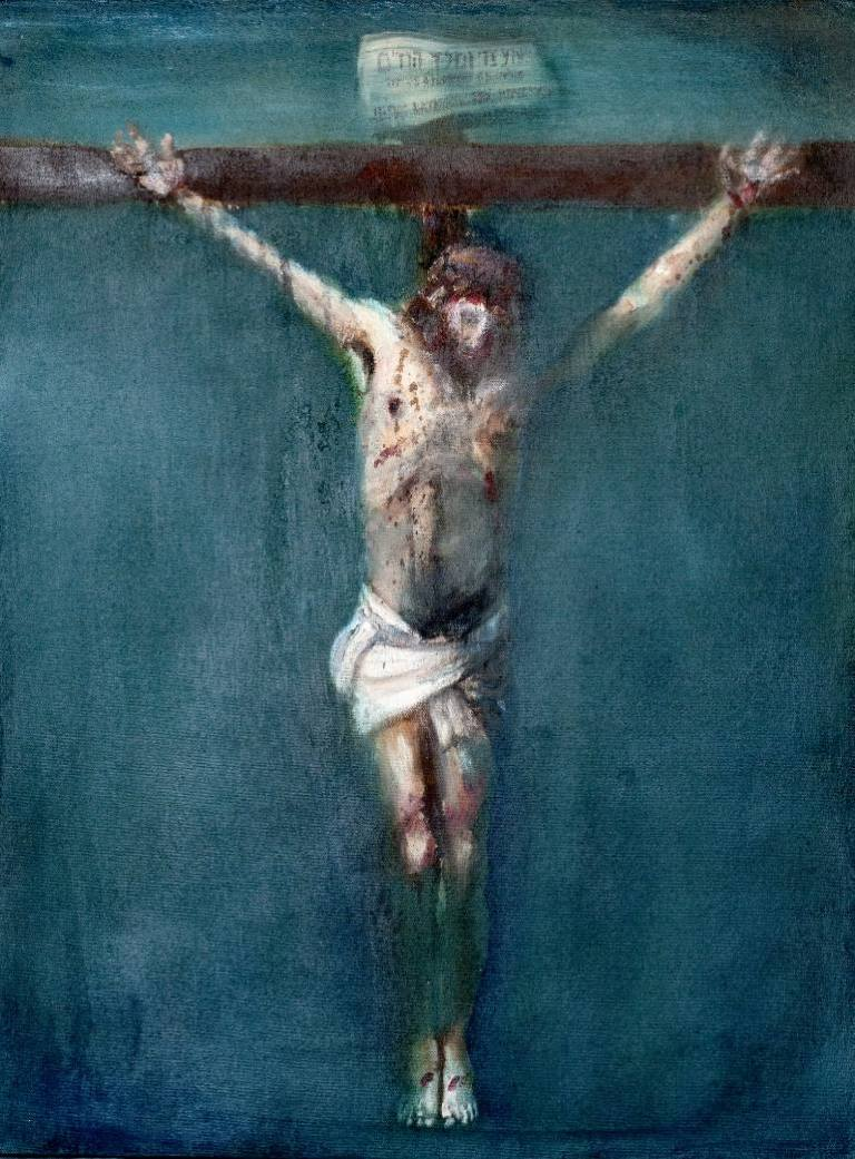 Crucifixion in Blue Paul Clark