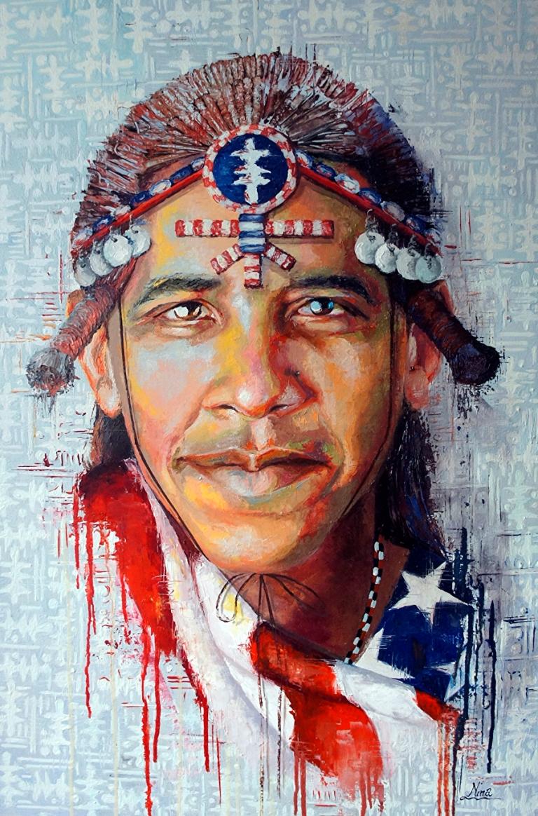 Obama Maasai Nina Fabunmi