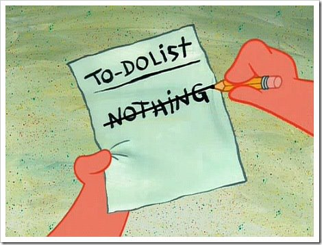 nothing in to-do list